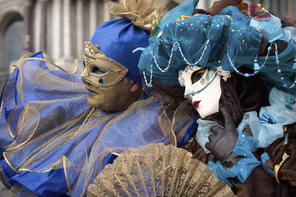 Costumed couple at Venice Carnival 2011